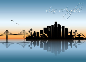 Los Angeles skyline - California - USA