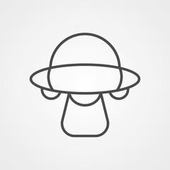 Alien ship vector icon sign symbol