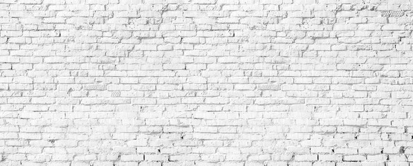 Poster Brick wall white brick wall texture
