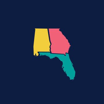 Hurricane Michael Southern Strong States Outline Alabama Georgia Florida