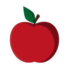 apple fruit cartoon isolated