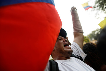 Opposition supporters gather to rally against Venezuelan President Nicolas Maduro's government and to honor Youth Day in Cucuta