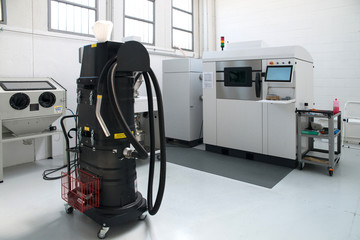 Metal 3D printer (DMLS) - Direct metal laser sintering (DMLS) is an additive manufacturing technique that uses a laser fired into a bed of powdered metal.