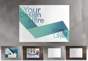 Brochure Mockup with Various Background