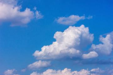 big white clouds in the blue sky