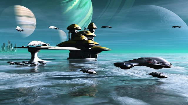 PaulP new world 006a, Alien Ice Planet