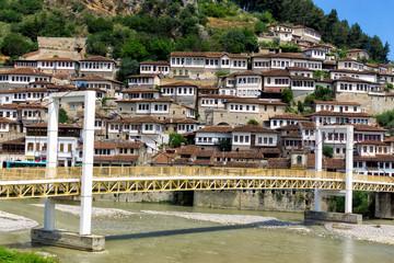 Bridge and Historical Town of Berat, Albania.