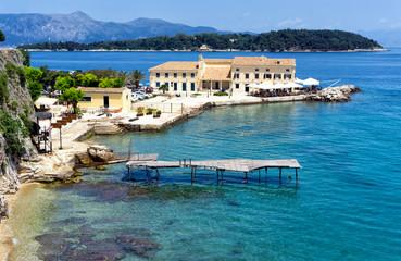 Landscape of Corfu, Greece.