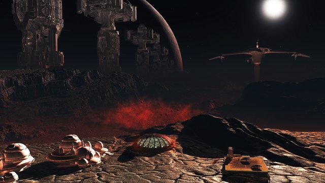 PaulP New world 017a, Terraforming black planet