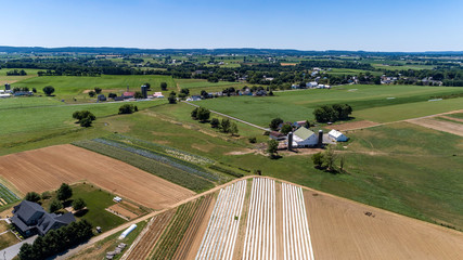 Amish Farm Lands from Above 25