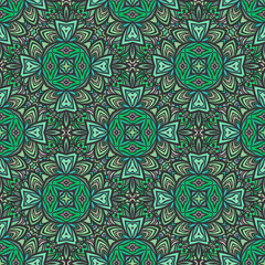 Seamless pattern in Moroccan style mosaic tile. Islamic traditional ornament. Geometric background. Vector illustration.