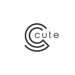 Cute Initial C Logo Design.