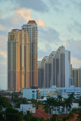 Stock photo highrise architecture South FLorida Sunny Isles Beach