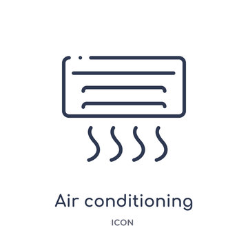 air conditioning icon from tools and utensils outline collection. Thin line air conditioning icon isolated on white background.