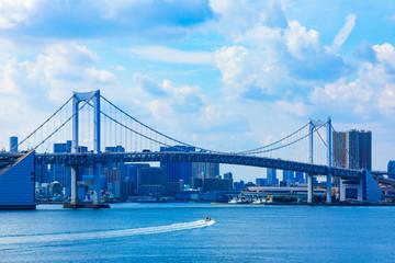 (東京都ー都市風景)海浜公園から望むウォーターフロント風景6