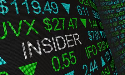 Insider Stock Market Illegal Trading 3d Illustration