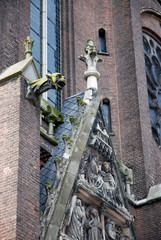 Detail of a church architecture in Eindhoven, Netherlands