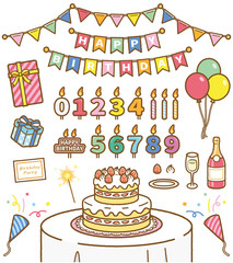 Happy Birthday セット素材