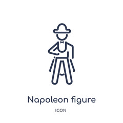 napoleon figure icon from people outline collection. Thin line napoleon figure icon isolated on white background.