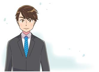 リクルートスーツ 転職 就職活動のイメージイラスト
