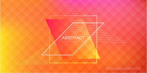 Abstract orange spectrum background with geometric rhombus pattern.