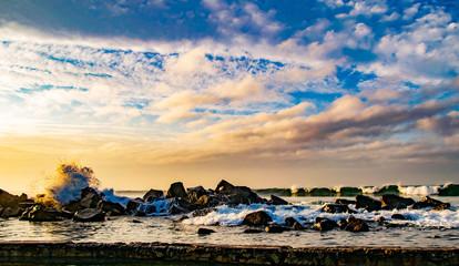 Waves Breaching the Jetty in Coronado