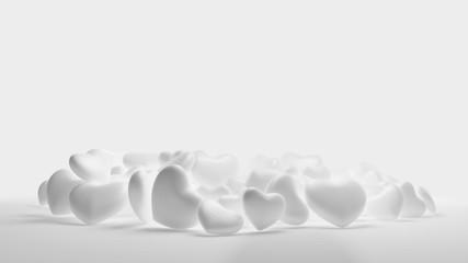 pile of hearts background 3d-illustration
