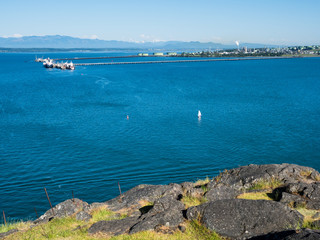 Views from Cap Sante park at Anacortes, WA, with Marathon Anacortes Refinery at the background