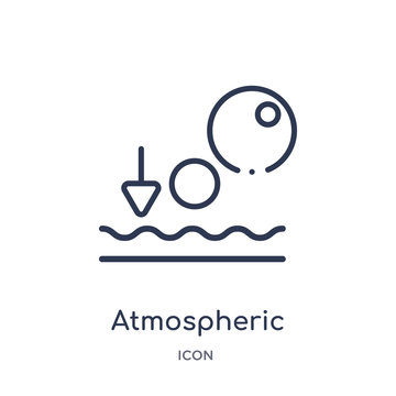 atmospheric pressure icon from weather outline collection. Thin line atmospheric pressure icon isolated on white background.