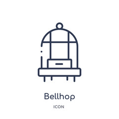 bellhop icon from travel outline collection. Thin line bellhop icon isolated on white background.