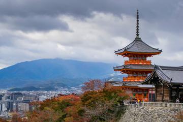Papiers peints Kyoto Beautiful temple in Japan.Kiyomizu-dera temple.