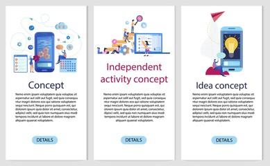 Mobile App Independent Development Banner Set