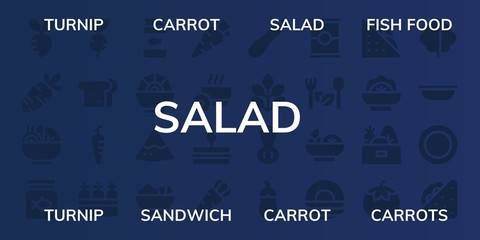 salad icon set