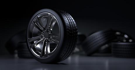 Alloy wheels tire auto cast Fototapete