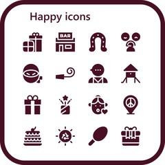 happy icon set