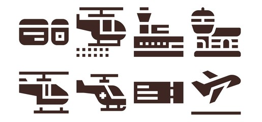 departure icon set