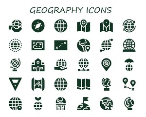 geography icon set