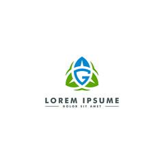 Letter G logo, oragnic leaf icon, nature beauty  design - vector