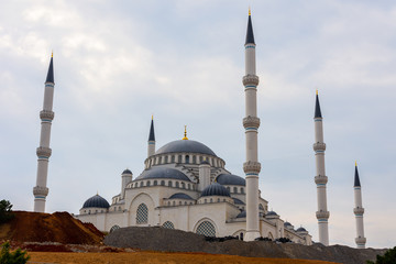 The Republic mosque during the building time