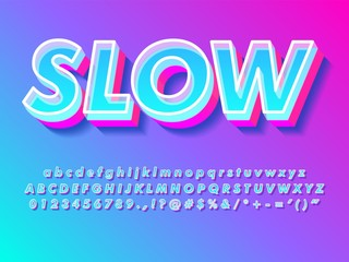 simple bright modern and futuristic text effect for headline design with cool trendy style compatible with illustrator 10