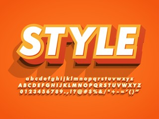 3d bold and strong modern typeface, vibrant cool style effect, numbers and symbols compatible with illustrator 10
