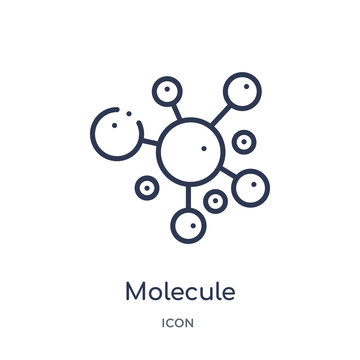 molecule icon from science outline collection. Thin line molecule icon isolated on white background.
