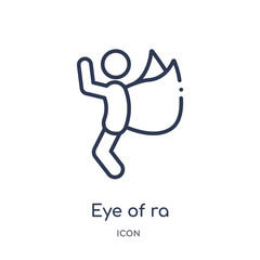 eye of ra icon from religion outline collection. Thin line eye of ra icon isolated on white background.