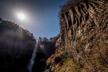 waterfall in the mountains, Nikko, Japan