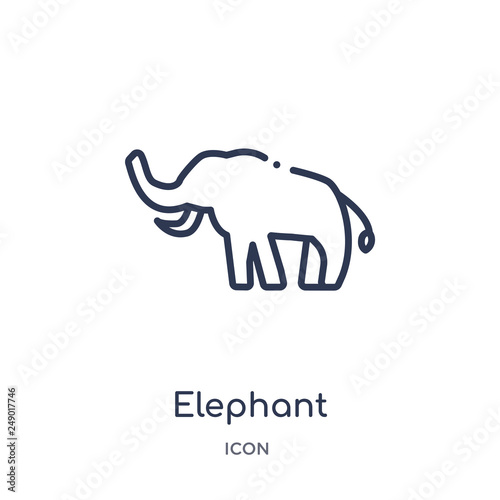 elephant icon from religion outline collection  Thin line elephant