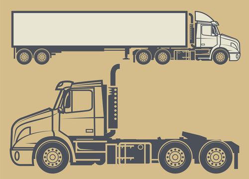Cargo delivering vehicle, vector illustration