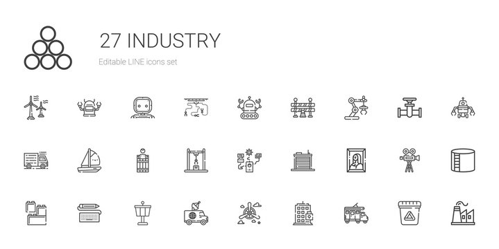 industry icons set