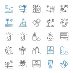 lotion icons set