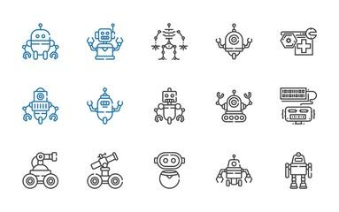 chatbot icons set