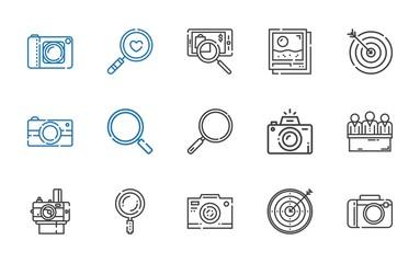 focus icons set